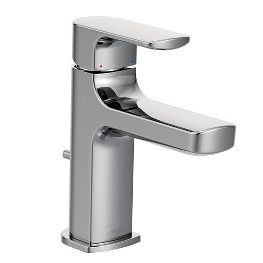 Rizon Chrome One-Handle Low Arc Bathroom Faucet