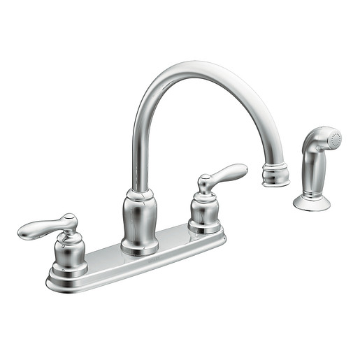 Caldwell Chrome Two-Handle High Arc Kitchen Faucet