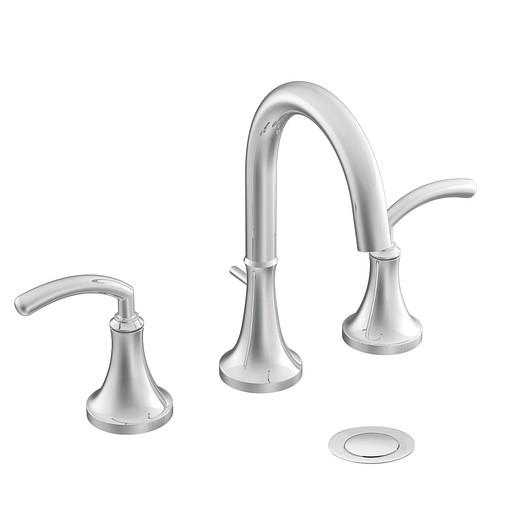 Icon Chrome two-handle high arc bathroom faucet