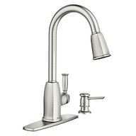 Wellsley Spot Resist Stainless One-Handle High Arc Pulldown Kitchen Faucet