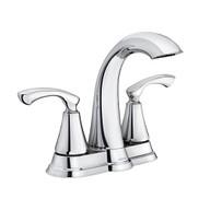 Tiffin Chrome Two-Handle High Arc Bathroom Faucet