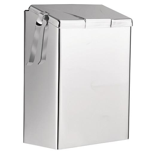 Donner Commercial Chrome sanitary napkin receptacle