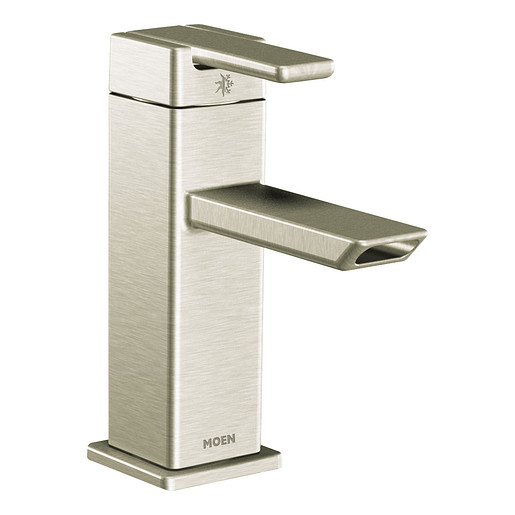 90 Degree Brushed Nickel One Handle 1.0 GPM Bathroom Faucet