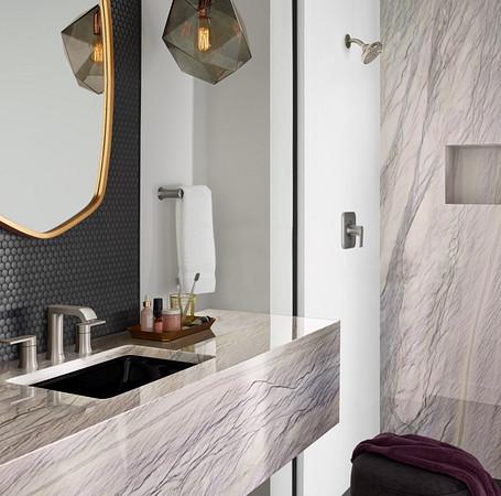 2oclock Genta Brushed Nickel Two-Handle Low Arc Bathroom Faucet