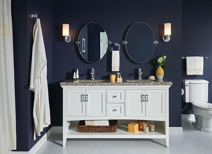 Vanity with Moen faucets