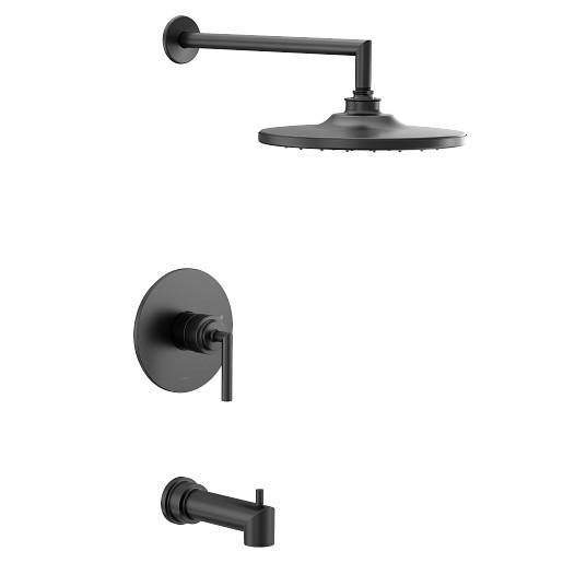 Arris Matte Black M-CORE 2-Series Tub/Shower