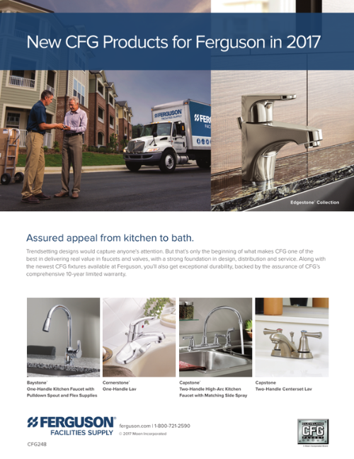 New Cleveland Faucet Group Products for Ferguson 2017