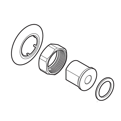 Commercial Wall escutcheon and gasket