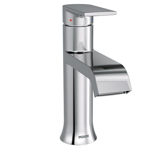 Genta Chrome One-Handle High Arc Bathroom Faucet