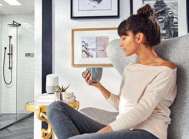U By Moen Shower Terra Beige 2-Outlet Digital Shower Controller