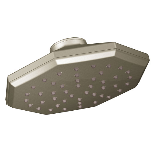 "Felicity Brushed nickel one-function 7"" diameter spray head eco-performance showerhead"