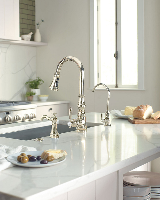 Weymouth Chrome One-Handle High Arc Pulldown Kitchen Faucet