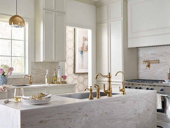 Brushed Gold Weymouth Kitchen Faucet