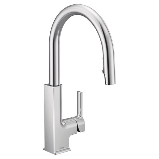 STO Chrome One-Handle High Arc Pulldown Kitchen Faucet