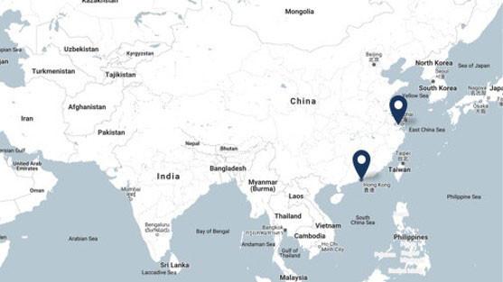 Moen Asia Map