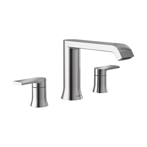 Genta LX Chrome Two-Handle Low Arc Roman Tub Faucet