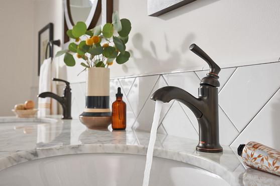 Hilliard Mediterranean Bronze Single Hole Configuration Bathroom Faucet