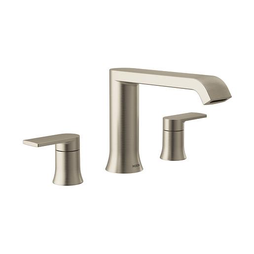 Genta LX Brushed Nickel Two-Handle Low Arc Roman Tub Faucet