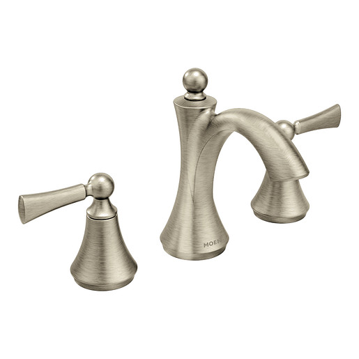 Wynford Brushed Nickel Two-Handle High Arc Bathroom Faucet