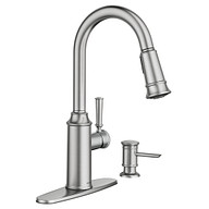 Glenshire Spot Resist Stainless One-Handle High Arc Pulldown Kitchen Faucet