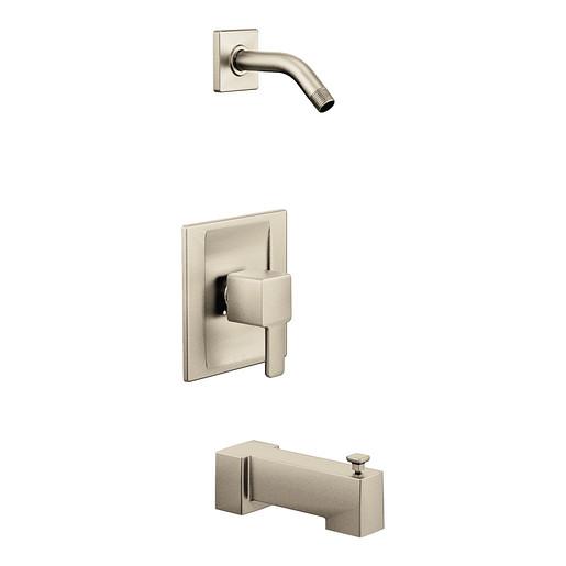 90 Degree Brushed nickel Posi-Temp® tub/shower