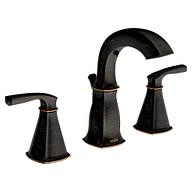 Hensley Mediterranean Bronze Two-Handle Bathroom Faucet