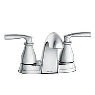 Hilliard Chrome Two-Handle Low Arc Bathroom Faucet
