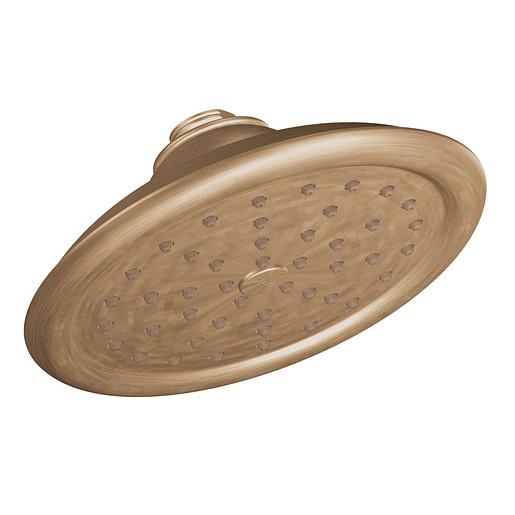 "Moen Brushed bronze one-function 7"" diameter spray head rainshower"