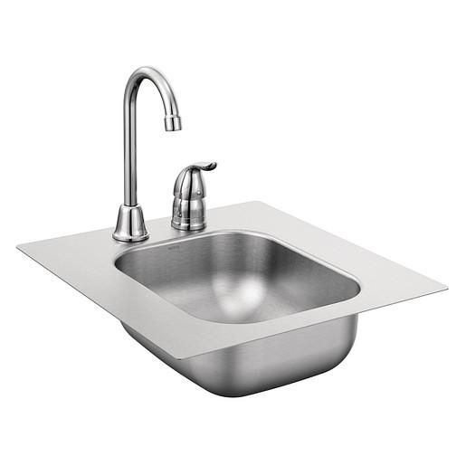 """2000 Series 16-3/8""""x17-3/8"""" stainless steel 20 gauge single bowl drop in sink"""