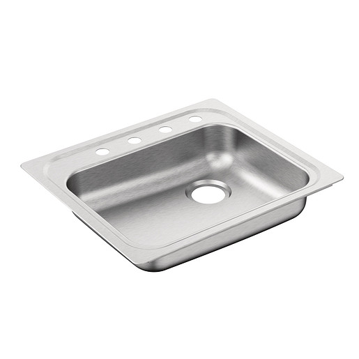 """Commercial 25""""x23"""" stainless steel 20 gauge single bowl sink"""