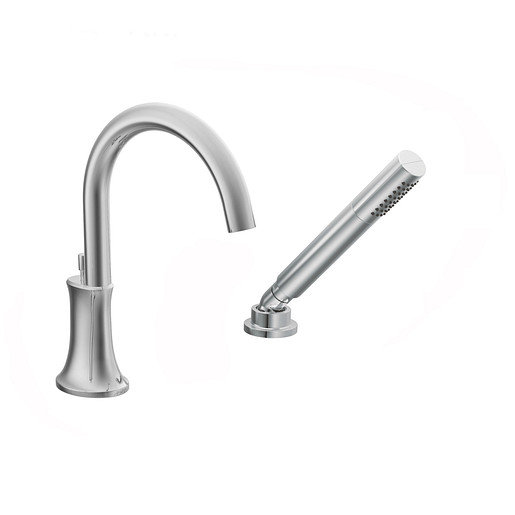 Icon Chrome high arc roman tub faucet includes hand shower IoDIGITAL® technology
