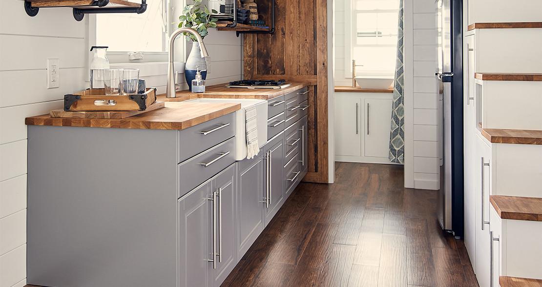 Hardwood Floors Cabinet Farmhouse Kitchen
