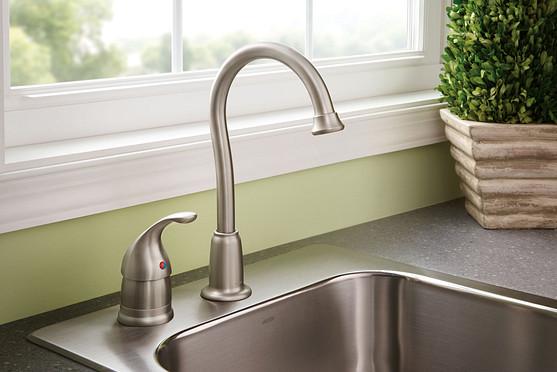 Camerist Chrome One-Handle High Arc Bar Faucet 4905