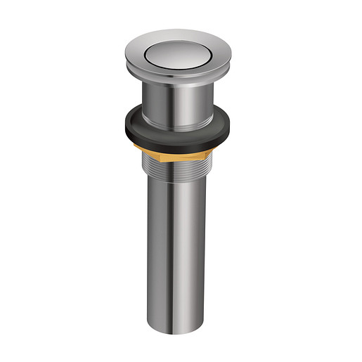 Moen Chrome Spring Loaded Push Button Bathroom Drain Assembly (without overflow)