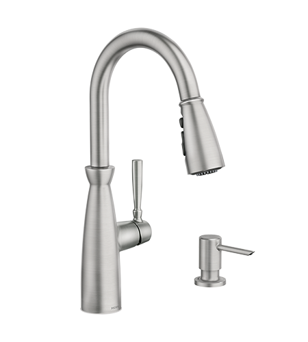 5oclock Surie Spot Resist Stainless One-Handle Pulldown Kitchen Faucet With Power Boost