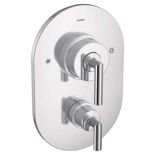 Arris Chrome Posi-Temp® with diverter valve trim