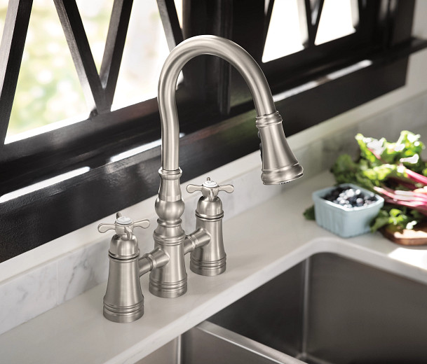 Weymouth Spot Resist Stainless One-Handle High Arc Pulldown Kitchen Faucet