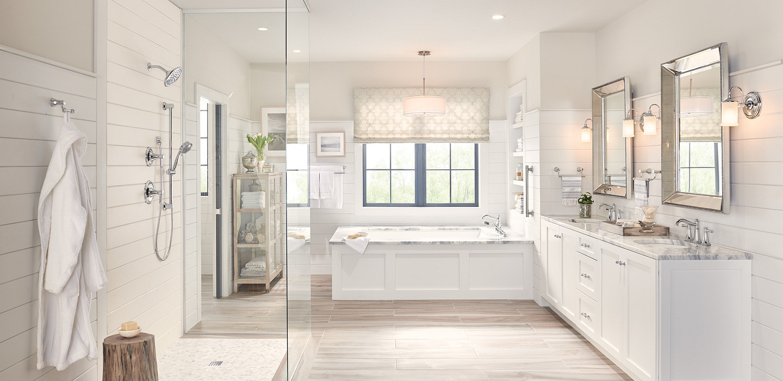 Belfield Chrome Two-Handle Bathroom Faucet Upgrade