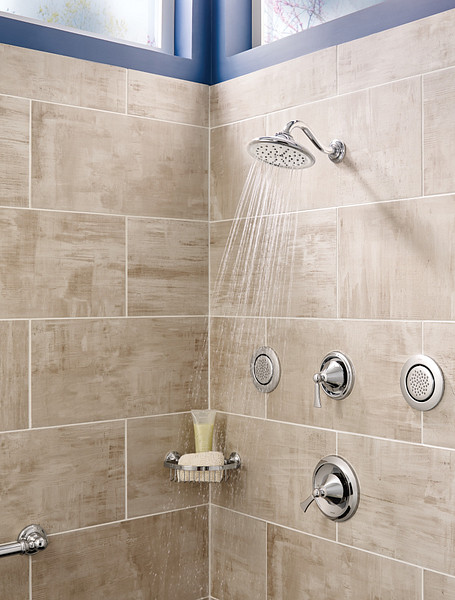 Wynford Chrome Tub/Shower Faucet in Room Atmosphere