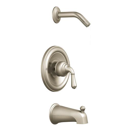 Monticello Brushed nickel Posi-Temp® tub/shower