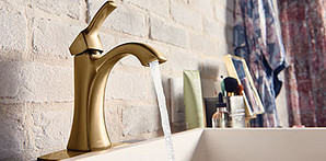 Brushed Gold Bathroom Faucet