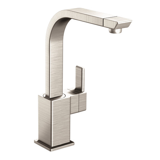 90 Degree Spot resist stainless One-Handle High Arc Kitchen Faucet