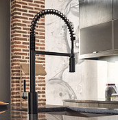 Align Spring Matte Black One-Handle High Arc Pulldown Kitchen Faucet