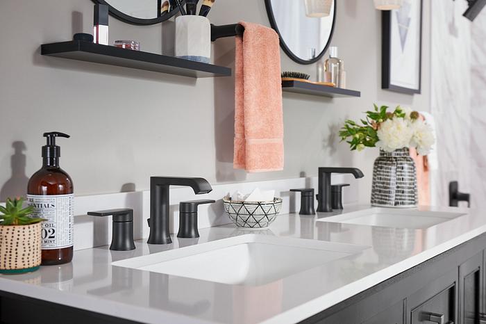 Align Matte Black Bathroom Faucets