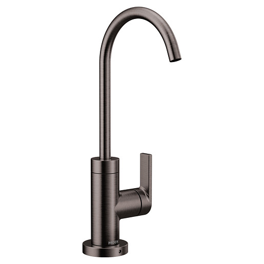 Nio Black stainless one-handle high arc beverage faucet