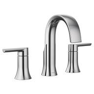 Doux Chrome Two-Handle High Arc Bathroom Faucet