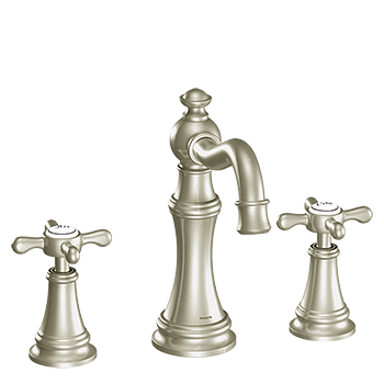 11oclock Weymouth Brushed Nickel Two-Handle High Arc Bathroom Faucet