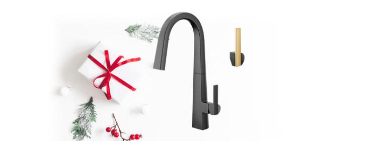 Versatile style - Nio Matte Black Kitchen Faucet - S75005BL