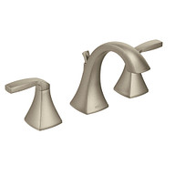 Voss Brushed Nickel Two-Handle High Arc Bathroom Faucet