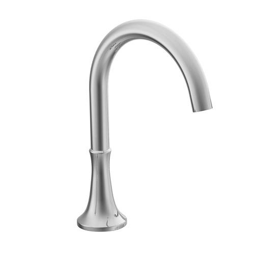 Icon Chrome high arc roman tub faucet includes IoDIGITAL® technology